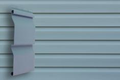 Виниловый сайдинг Grand Line Классика Корабельный брус (Голубой), 3,6