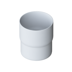 Муфта трубы для водосточной системы Альта-Профиль Элит белый