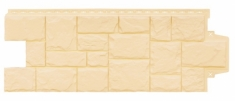 Фасадная панель GRAND LINE Крупный камень (Бежевый), 1,10м