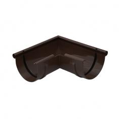 Угол желоба 90 градусов для водосточной системы коричневый